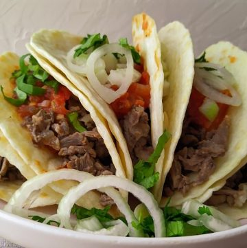 Tacos de Suadero petto di manzo